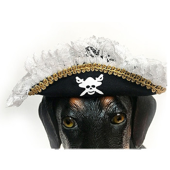 Scallywag Pirate Costume Pet Dog Hat