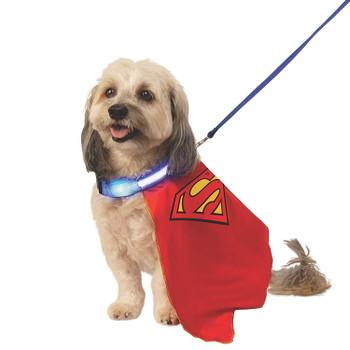 Light-Up Superman Cape Pet Costume