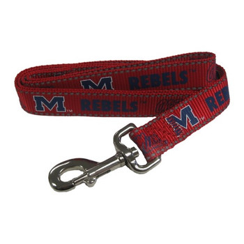 Ole Miss Rebels Pet Reflective Nylon Leash