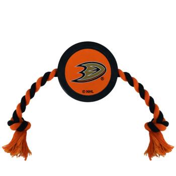 Anaheim Ducks Pet Hockey Puck Rope Toy