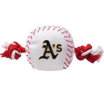 Oakland A's Nylon Baseball Rope Tug Toy