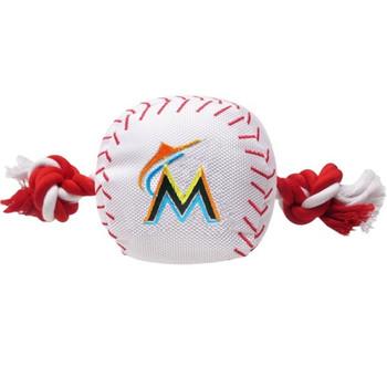 Miami Marlins Nylon Baseball Rope Tug Toy
