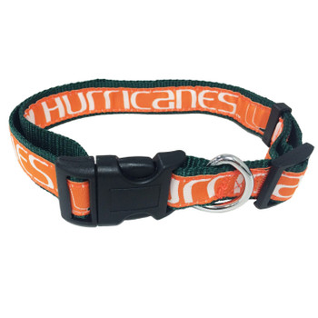 Miami Hurricanes Pet Collar by Pets First