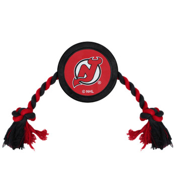 New Jersey Devils Pet Hockey Puck Rope Toy