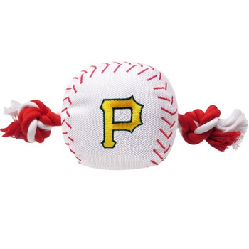 Pittsburgh Pirates Nylon Baseball Rope Tug Toy
