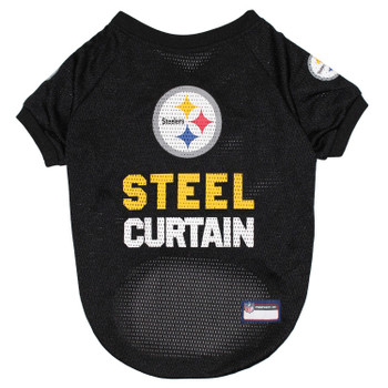 Pittsburgh Steelers Steel Curtain Pet Jersey - Small
