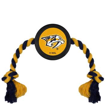 Nashville Predators Pet Hockey Puck Rope Toy