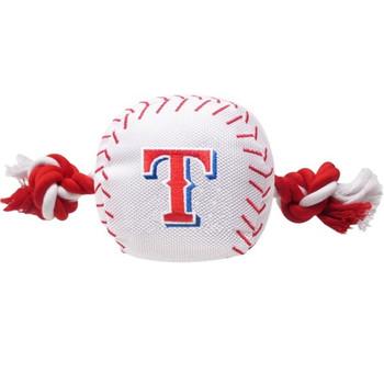 Texas Rangers Nylon Baseball Rope Tug Toy