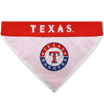 Texas Rangers Pet Reversible Bandana