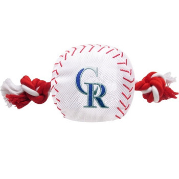 Colorado Rockies Nylon Baseball Rope Tug Toy