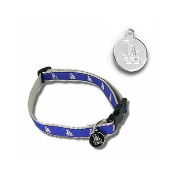 Los Angeles Dodgers Dog Collar Alternate Design