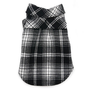 Flannel Button Down Dog Shirt - Black