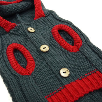 Tidy Cable Hoodie Dog Sweater - Charcoal