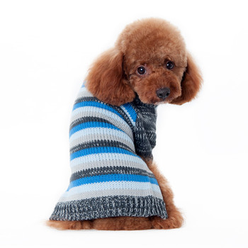 Marl Stripes Dog Sweater - Blue