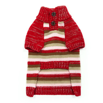 Marl Stripes Dog Sweater - Red