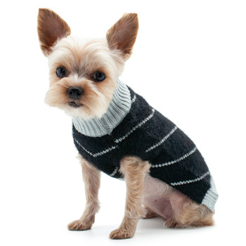 Victor Dog Sweater - Black