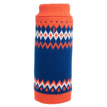 Fairisle Orange Dog Sweater