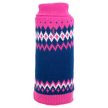 Fairisle Pink Dog Sweater