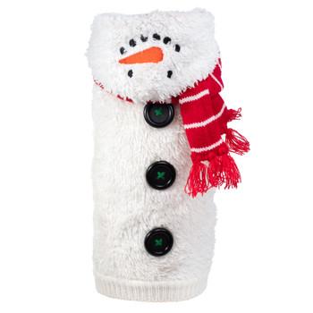 Snowman Hoodie Dog Sweater