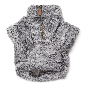 Wubby Fleece 1/4 Zip Pullover Dog Sweater - Black