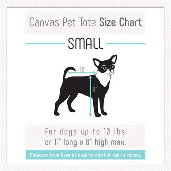 Canvas Pet Dog Tote - Tan & Navy