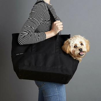 Canvas Pet Dog Tote - Black