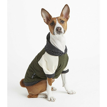 Bamboo Knit Fleece Dog Hoodie - Olive