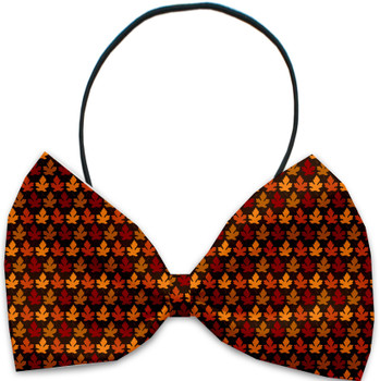 Autumn Leaves Pet Dog Bow Tie