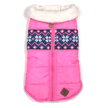 Aspen Pet Dog Puffer Jacket - Pink