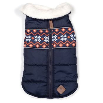Aspen Pet Dog Puffer Jacket - Navy