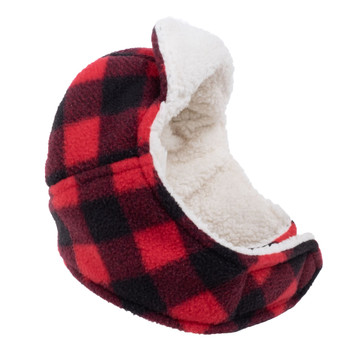 Aviator Dog Hat Red Buffalo Fleece by Worthy Dog