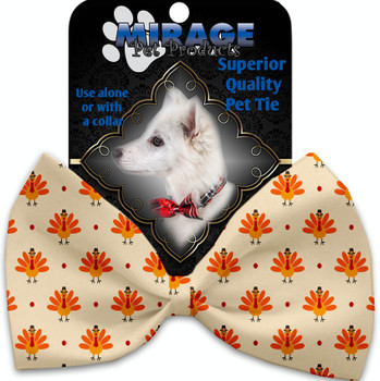 Turkey Trot Pet Bow Tie Collar Accessory With Velcro