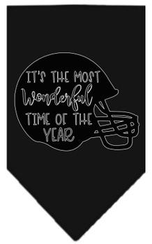Most Wonderful Time Of The Year (football) Screen Print Bandana - Black