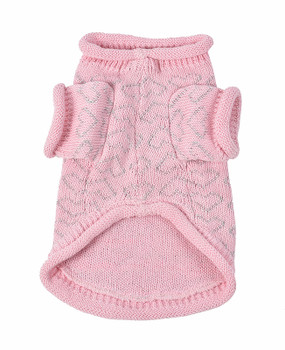 Heart to Heart Dog Sweater - Pink