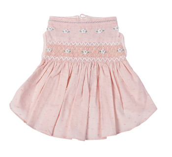 Undottedly Pink Hand-Smocked Dog Dress