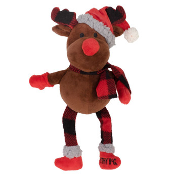 Plush Christmas Buffalo Reindeer Pet Dog Toy