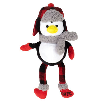 Plush Christmas Buffalo Penguin Pet Dog Toy