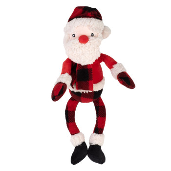 Plush Christmas Buffalo Santa Pet Dog Toy