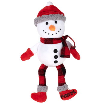 Plush Christmas Buffalo Snowman Pet Dog Toy