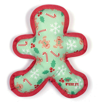 Christmas Canvas Gingerbread Man Pet Dog Toy