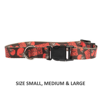 Cleveland Browns Pet Nylon Collar - Large