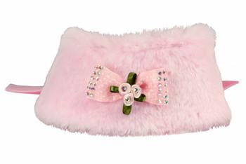 Luxurious Fur Pet Dog Cape - Pink