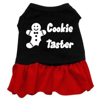 Cookie Taster Screen Print Dress - Black With Red
