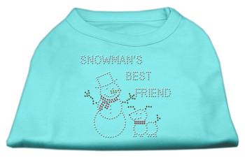 Snowman's Best Friend Rhinestone Shirt - Aqua