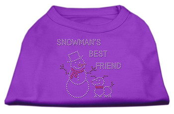 Snowman's Best Friend Rhinestone Shirt - Purple