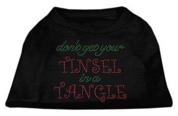 Tinsel In A Tangle Rhinestone Dog Shirt Black