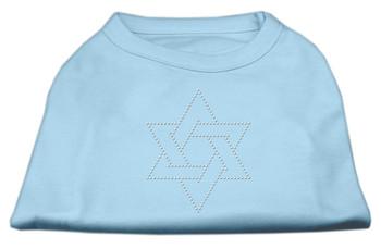 Star Of David Rhinestone Shirt - Baby Blue