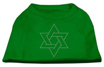 Star Of David Rhinestone Shirt - Emerald Green