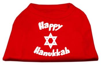 Happy Hanukkah Screen Print Shirt - Red