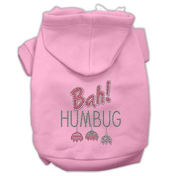 Bah Humbug Rhinestone Pet Dog Hoodie Pink